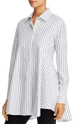 Donna Karan Striped Cotton Tunic Shirt