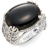 Rebecca Minkoff Runway Fall 15 Feather Stone Ring