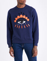 Kenzo Icon evil eye-print stretch-cotton sweatshirt