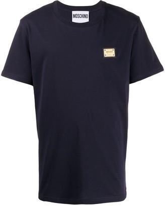 Moschino logo plaque T-shirt