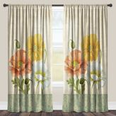 Laural Home® Pastel Poppies Rod Pocket Sheer Window Curtain Panel