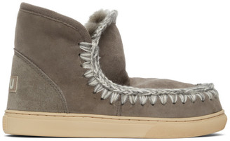 Mou Grey Sneaker Boots