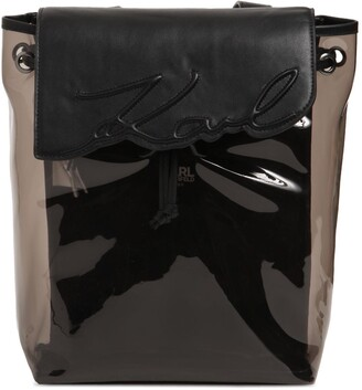 Karl Lagerfeld Paris Faux Leather & Pvc Backpack