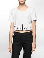 Calvin Klein Womens Cropped Logo T-Shirt