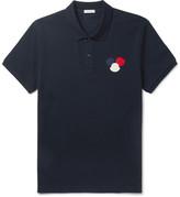 Moncler Appliquéd Cotton-Piqué Polo Shirt