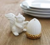 Pottery Barn Gold Squirrel and Nut Salt & Pepper Shakers
