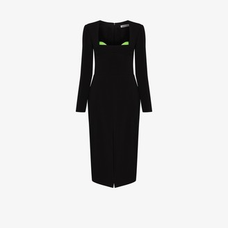 Supriya Lele Square-Neck Midi Dress