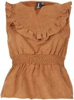 Izabel London Sleeveless Frill Bib Top