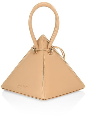 Nita Suri Lia Pyramid Leather Top Handle Bag