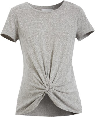 Fourteenth Place Knot Front Maternity T-Shirt
