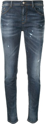 Emporio Armani Distressed-Effect Skinny Jeans