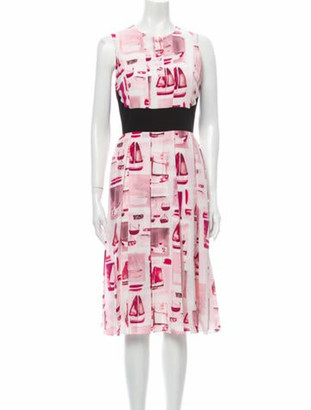 Prabal Gurung Silk Midi Length Dress Pink