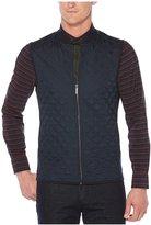 Perry Ellis Ponte Knit Full-Zip Quilted Vest