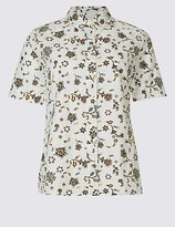 Classic Pure Cotton Printed Short Sleeve Shirt