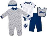 Cutie Pie Baby Gray & Navy Truck Footie Set - Infant