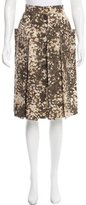 Stella McCartney Camouflage A-Line Skirt