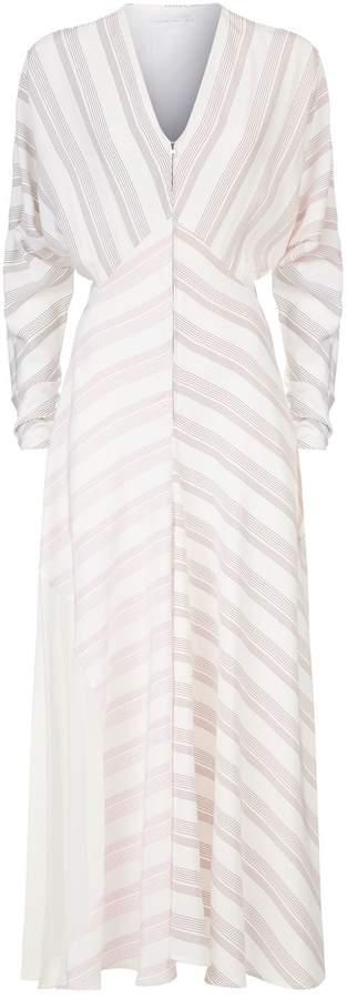 Victoria Beckham Asymmetric Striped Dress