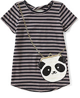 Jessica Simpson Big Girls 7-16 Katelyn Striped Panda-Purse Tee