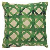 Lulu & Georgia Watercolor Lattice Pillow
