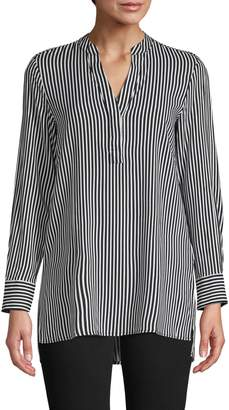 Lord & Taylor Striped High-Low Tunic