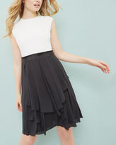 Ted Baker Ruffled monochrome dress
