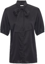 Anine Bing Silk Blouse with Neck Tie