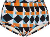 Lenny Niemeyer Printed High-rise Bikini Bottoms