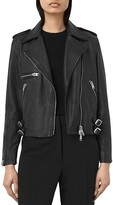 AllSaints Higgens Leather Biker Jacket