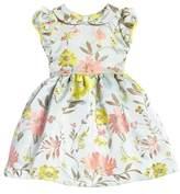 Oscar de la Renta Floral Jacquard Dress