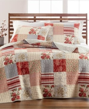 Martha Stewart Collection Farmstead Floral Patchwork King/Cal King Quilt, Created for Macy's