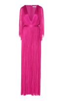 Maria Lucia Hohan Lur Silk Long Sleeve Dress