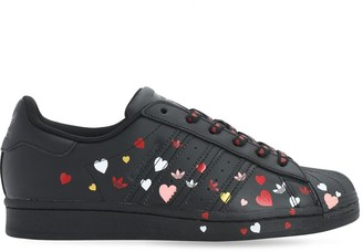 adidas Superstar Printed Leather Sneakers
