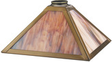 Rejuvenation Mission 12in. Brass and Art Glass Pyramid Shade