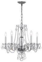 Swarovski House Of Hampton Milan 5-Light Candle Style Classic / Traditional Chandelier House of Hampton Crystal Type/Finish Strass/Chrome