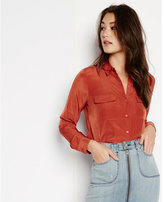 Express soft button down blouse