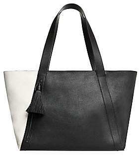 Akris Women's Medium Alexa Two-Tone Leather Tote