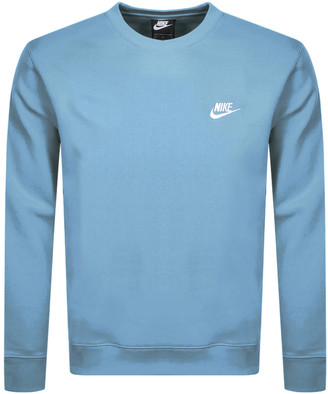 Nike Crew Neck Club Sweatshirt Blue
