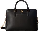 Tory Burch Georgia Pebbled Double-Zip Satchel Satchel Handbags