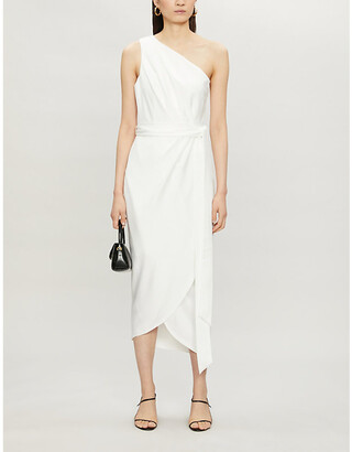 Ted Baker Gabie one-shoulder satin-crepe midi dress