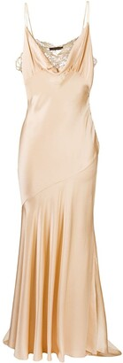 Roberto Cavalli Lace-Panel Sleeveless Dress