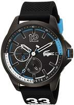 Lacoste Men's 'CAPBRETON' Quartz Resin and Silicone Casual Watch, Color:Black (Model: 2010896)