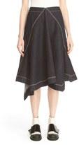 Marni Asymmetrical Front Denim Skirt