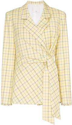 Tibi Belted check jacket
