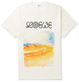 Loewe Eye nature Printed Cotton-Jersey T-Shirt