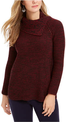 Style&Co. Style & Co Petite Pointelle Envelope-Neck Sweater