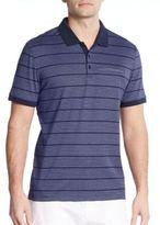 Calvin Klein Striped Cotton Jersey Polo