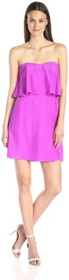 Alice & Trixie Women's Selena Silk Popover Strapless Dress