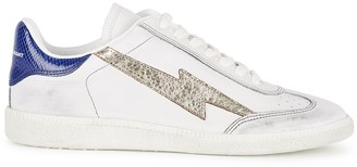 Isabel Marant Bryce White Distressed Leather Sneakers