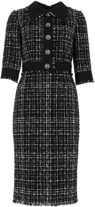 Dolce & Gabbana Tweed Button-Front Dress