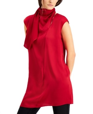 Alfani Scarf-Neck Tunic, Created for Macy's